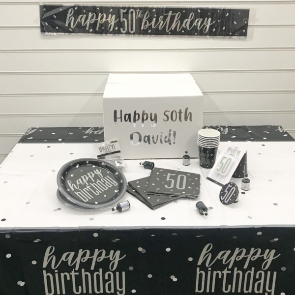 Birthday Lock Down Box - Black & Silver